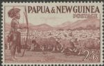 Papua New Guinea SG13 2s.6d brown-purple Native shephers and flock